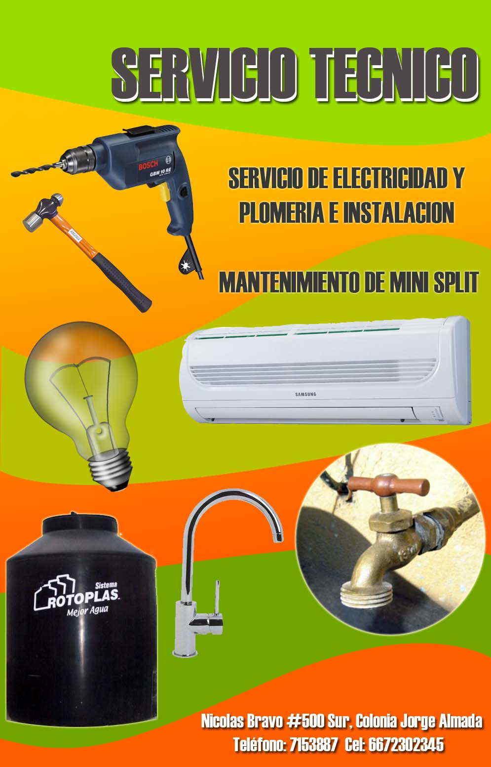 Servicio tecnico en culiac n anunciado por zonacomercial - Instalacion de electricidad ...