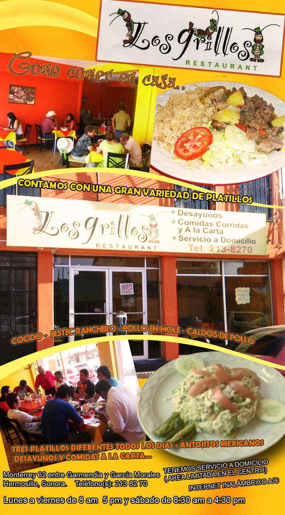Los grillos restaurant en hermosillo anunciado por - Catering como en casa ...