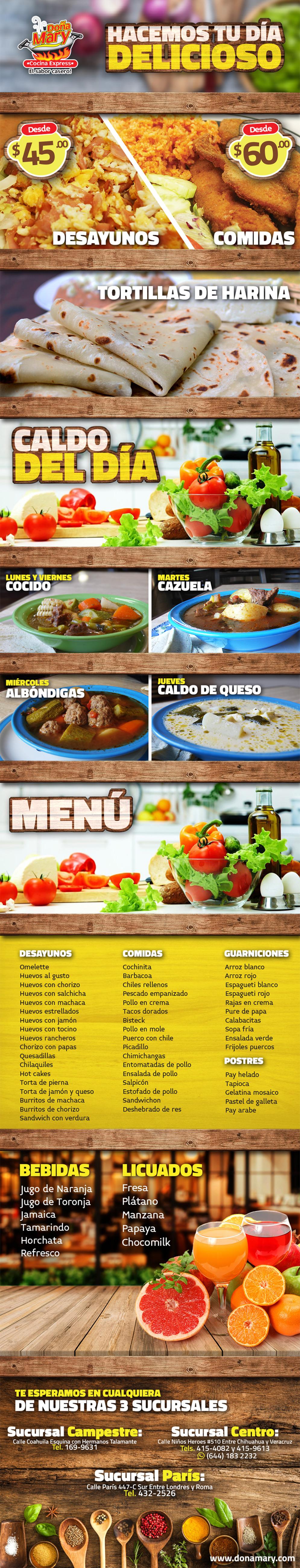 Cocina express do a mary en ciudad obreg n anunciado por for Cocina economica