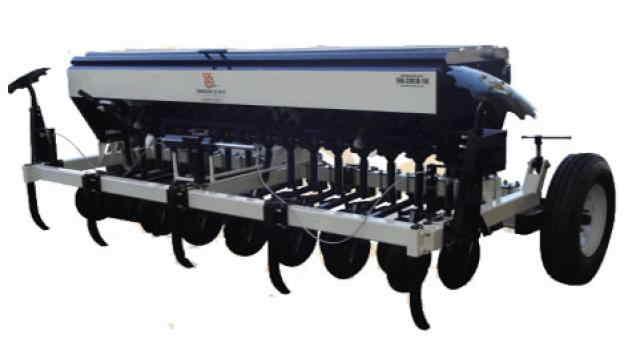 Sembradora de Trigo Sembradora triguera tradicional para granos finos de 4 surcos 16 salidas.