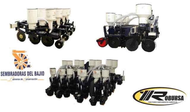 Sembradora neumática de precisión. Sembradora neumática de precisión para siembra de labranza con 4, 6 y 8 botes con fertilizador.