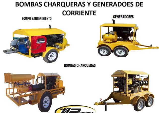 Bombas Charqueras y Generadores de Corriente Bombas Charqueras y Generadores de Corriente.
