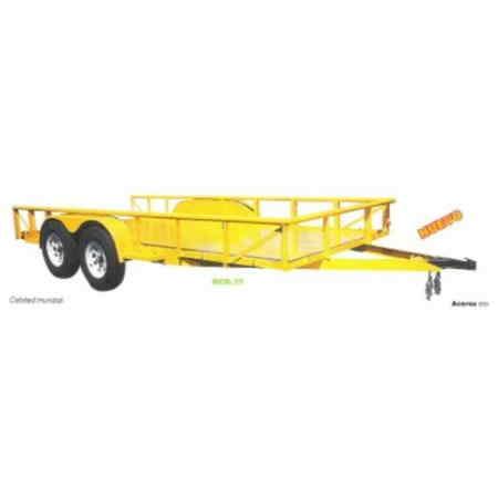 """Remolque de Cama Baja Capacidad de carga: 1.5 a 3 tons. Largo de Plataforma: 3 a 4.90 mts. Ancho de Plataforma: 1.52 a 2.10 mts. Tirón de Bola: 2"""" Piso: Lámina Luces: Traseras."""