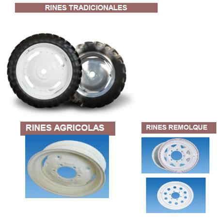 Rines para Tractor, remolques y más Rines para Tractor, remolques en varias medidas y modelos.
